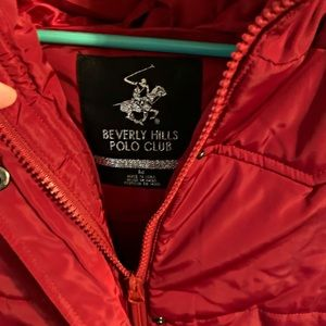 Red Beverly Hill Polo Club puffer vest